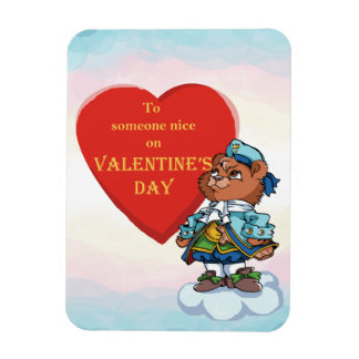Love You Teddy Bear Prince Magnet