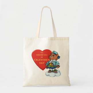 Love You Teddy Bear Prince Tote Bag