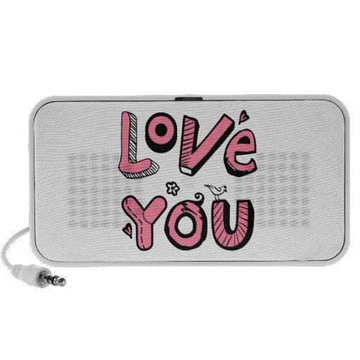 Love You Text Design Mini Speakers