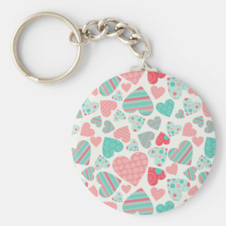 Love You to Pieces Basic Round Button Key Ring
