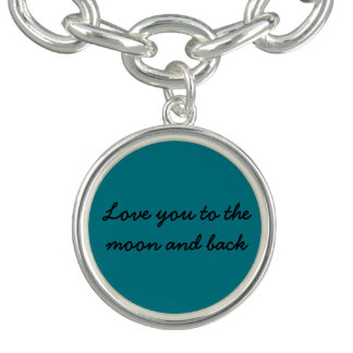 Love you to the moon and back charm
