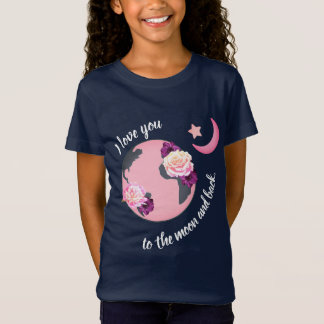 Love You to the Moon and Back Girl's T-Shirt