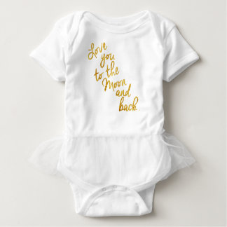 """""""Love You To the Moon and Back"""" Gold Foil Top"""