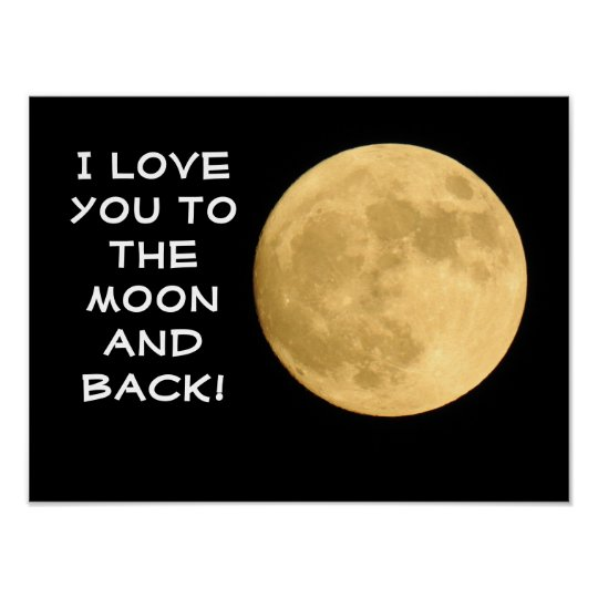 Love you to the Moon! -- Art Poster/Print