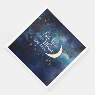 Love You to the Moon & Back Napkins Disposable Serviette