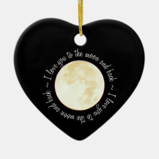 Love You to the Moon Christmas Ornament