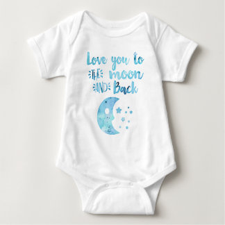 Love You to the Moon Hand Lettered Trendy Baby Bodysuit
