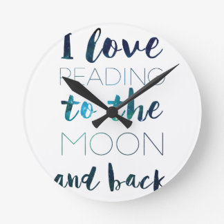 Love You to the Moon Round Clock