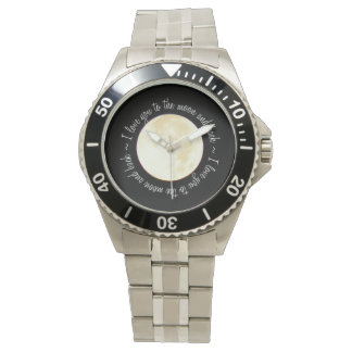 Love You to the Moon Wristwatch