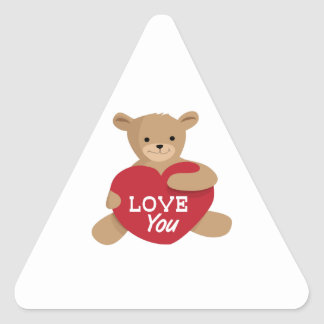 Love You Triangle Sticker