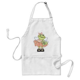 Love You Valentine Frog Standard Apron
