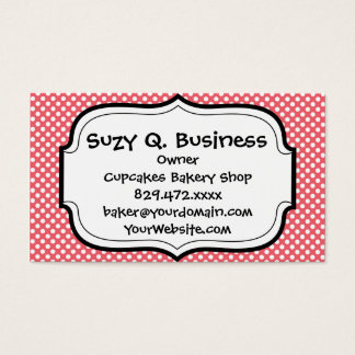 Love You Valentine's Day Gifts on Pink Polka Dots Business Card