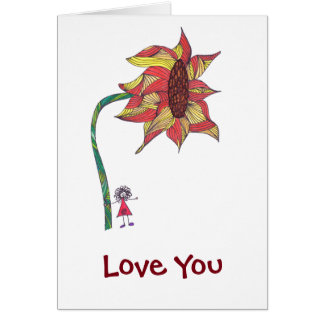 Love You - Valentine's with sunflower Card