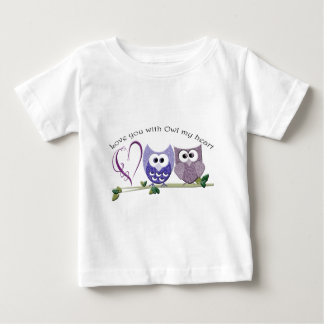 Love you with Owl my heart, cute Owls art gifts Baby T-Shirt