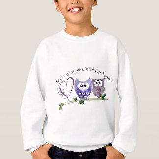 Love you with Owl my heart, cute Owls art gifts Sweatshirt