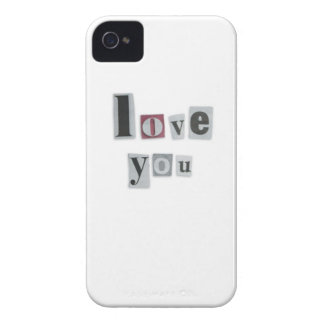 Love You Words iPhone 4/4S ID Case
