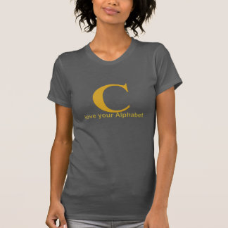 Love your alphabet: C T-Shirt
