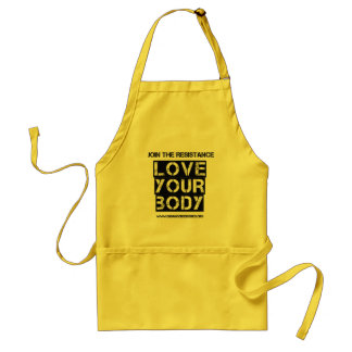 """Love Your Body"" apron"
