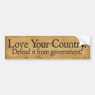 Love Your Country Bumper Sticker