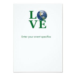 Love Your Earth 13 Cm X 18 Cm Invitation Card