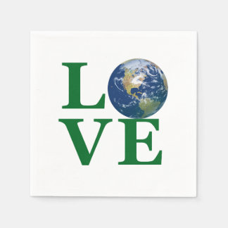 Love Your Earth Paper Serviettes