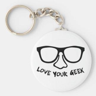 Love Your Geek Key Chain