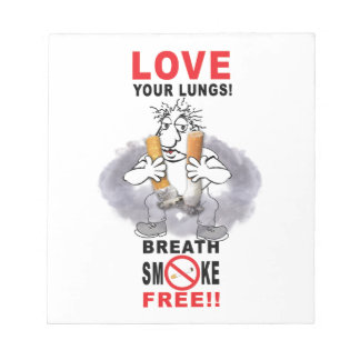 Love Your Lungs - Stop Smoking Notepads