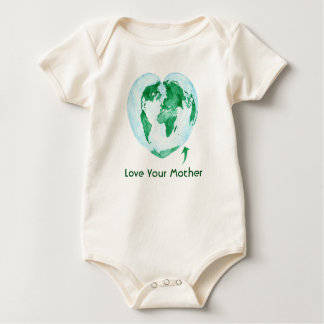 Love Your Mother Earth Baby Bodysuit