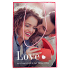 Love | Your Personal Photo and a Heart Medium Gift Bag