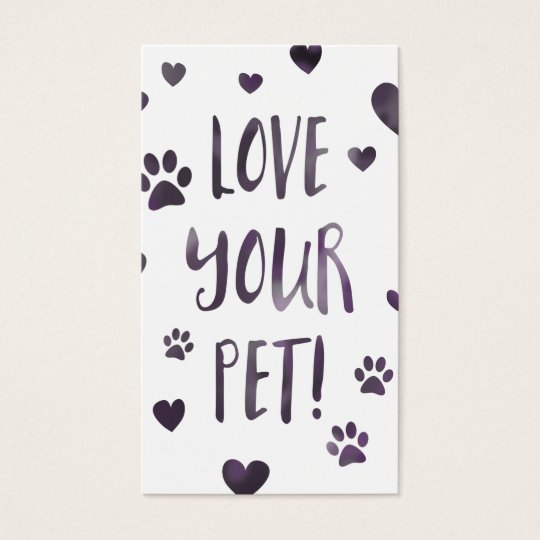 love your pet business card