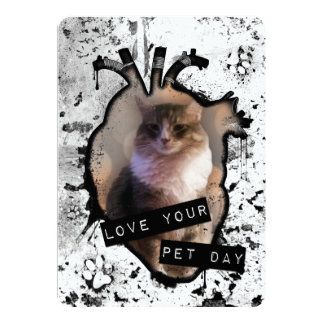 love your pet day 13 cm x 18 cm invitation card