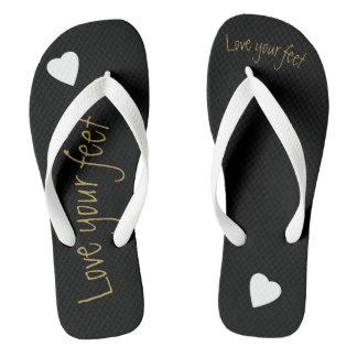 Love yourself flip flops