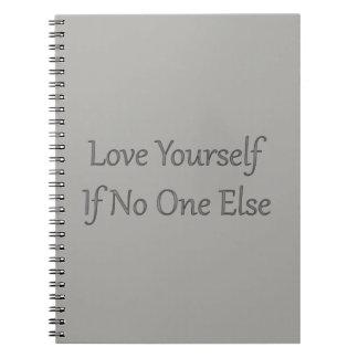 Love Yourself Grey Notebook
