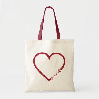Love yourself heart minimalistic design