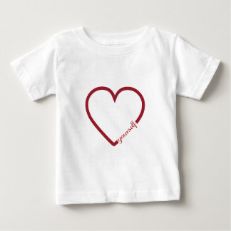 Love yourself heart minimalistic design baby shirt