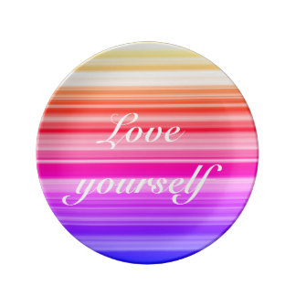 Love yourself plate