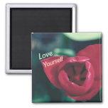 Love Yourself Self Esteem Tulip Refrigerator Magnet