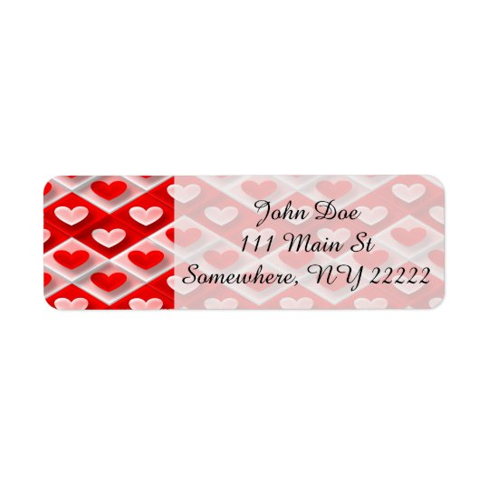 Love Zigs and Zags Return Address Label