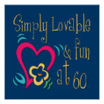 Loveable and Fun 60th Birthday Poster