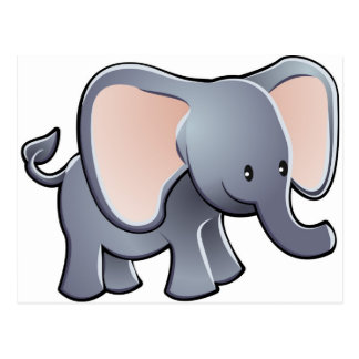 loveable elephant children's cartoon character postcard