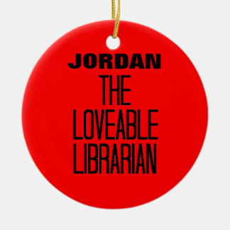 Loveable Librarian Round Ceramic Decoration