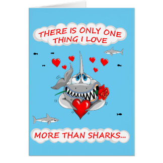 Loveable Shark Valentines card
