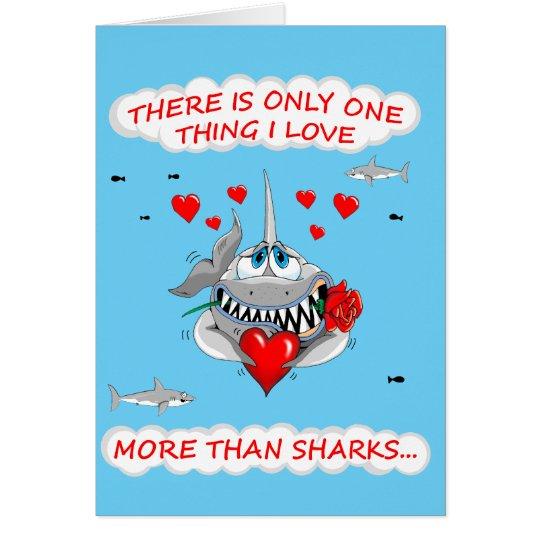 Loveable Shark Valentines card