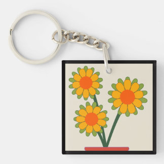 Loveable Sunflowers Key Ring