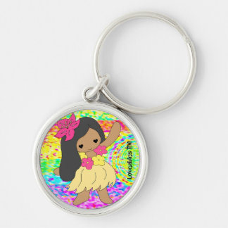 Loveables Hula Dancer Girl Key Ring