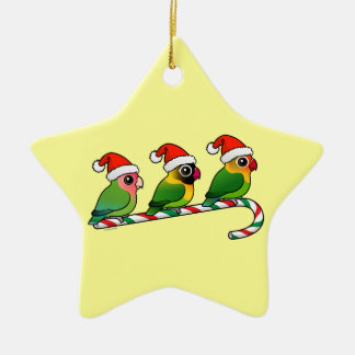 Lovebird Candy Cane Christmas Ornament