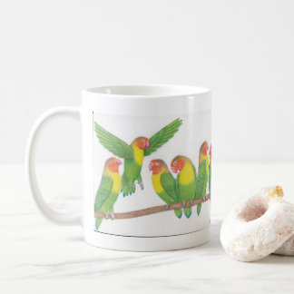 lovebird cartoon mug