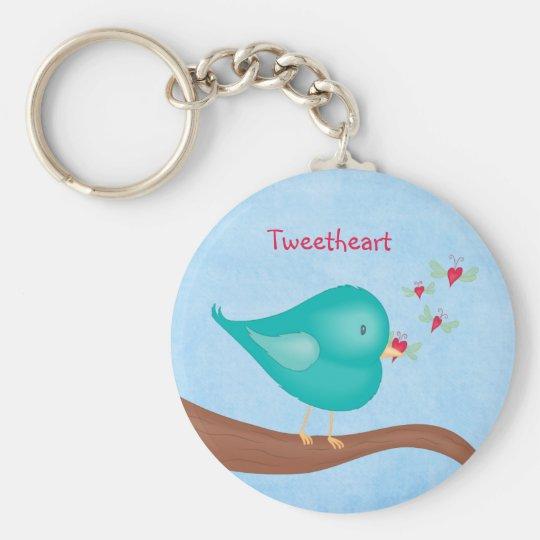 Lovebird catching a Lovebug Key Ring
