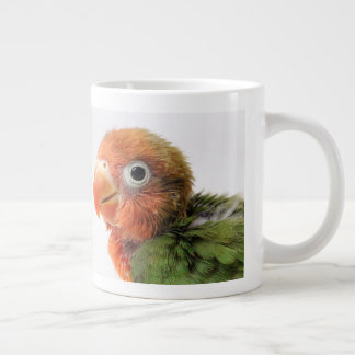Lovebird Chick | Agapornis papillero Large Coffee Mug