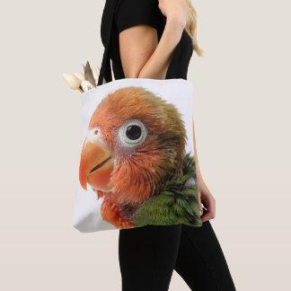 Lovebird Chick | Agapornis papillero Tote Bag